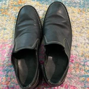 COLE HAAN Men's Oxford Slip on Black Leather Shoes